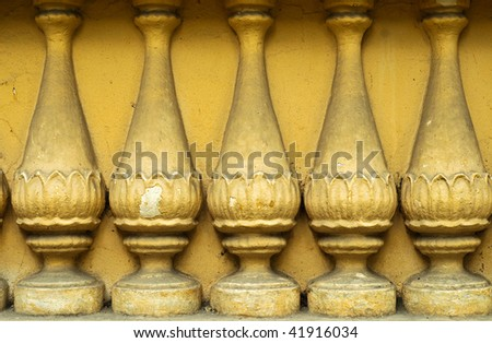 ancient ogrunge colonnade column  background - stock photo