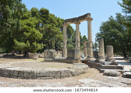 Photo of  Ancient Olympia - temples and archaeological research, ruins of an ancient city, Olympia Olympia - Ancient City (Archia Olympia)