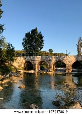 Ancient Ottoman bridge in Dalmatia, Zegar village - Croatia. Zdjęcia stock ©