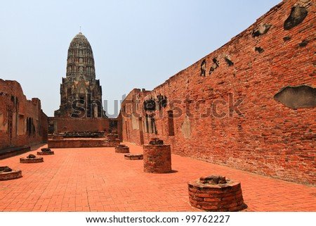 Ancient pagoda in ayutthaya,Thailand