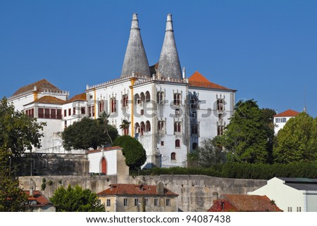 Ancient Palace Museum in the resort town of Sintra, near Lisbon on