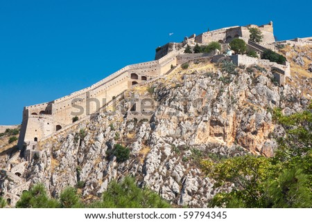 Ancient Palamidi fortress at Nafplio, Greece