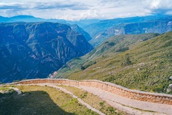 Ancient path of ancestral culture in Chachapoyas Peru, Latin America