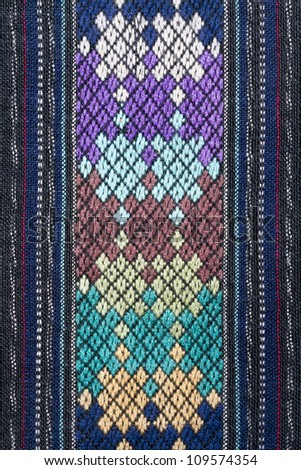 Ancient Pattern style Thai Cotton