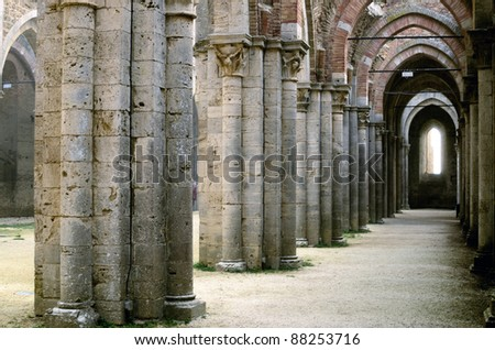 Ancient Perspective - stock photo