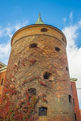 Ancient Powder Tower (XIV c.) in Riga. Nowadays the building is the Latvian War Museum and World Heritage Site of UNESCO. In 2014, Riga was the European capital of culture