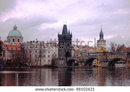 Ancient Prague view