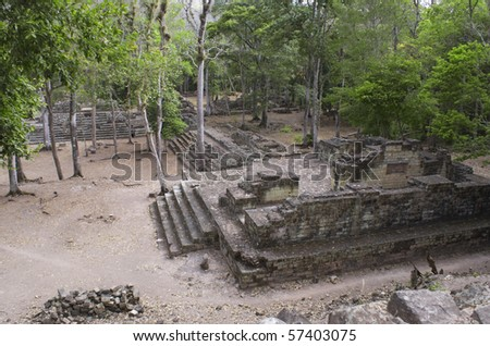 Ancient pyramid at pre-columbian city of Copan.