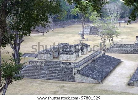 Ancient pyramid at pre-columbian city of Copan.
