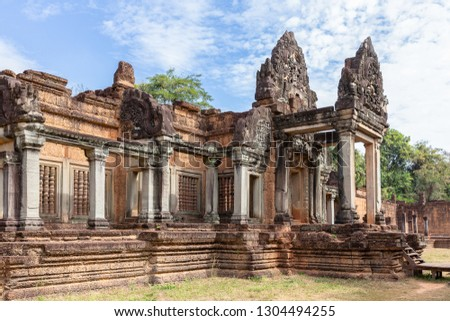 ancient remains of Banteay Samre temple, Siem Reap, Cambodia, Asia #1304494255