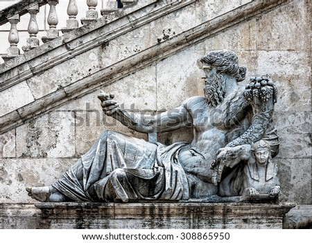 ancient roman allegory of nile...