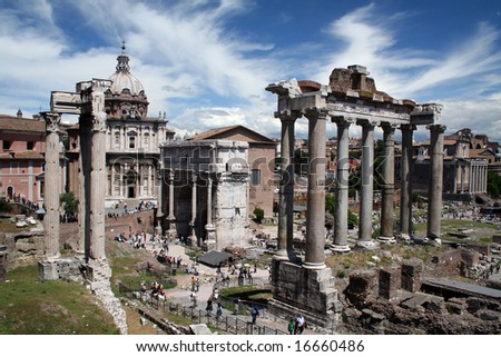 Ancient Roman Forum, Rome Italy