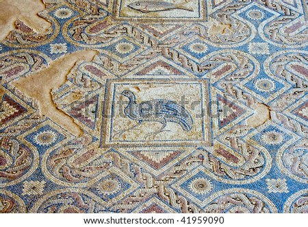 Ancient roman mosaic in cyprus the site is open to the public and