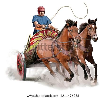 Ancient Roman Race Chariot