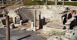 Ancient Roman ruins in Alexandria, Egypt