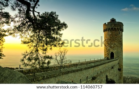 ancient romantic castle in Germany
