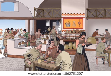 Ancient Rome - A taberna for refreshment