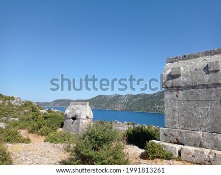 Ancient Royal Tomb in Mugla, Turkey Stok fotoğraf ©