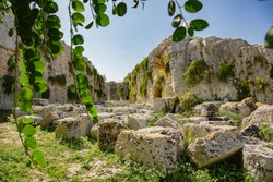 Ancient ruin of the Eurialo Greek Castle - Syracuse