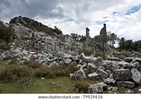 Ancient ruined city of Adada, Turkey.