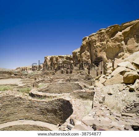 Ancient Ruins at Chaco Canyon, New Mexico