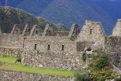 Ancient ruins at Machu Picchu, Peru, part of the Inca empire
