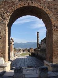 Ancient ruins of Pompeii city, Naples, Italy