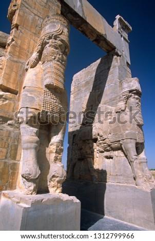 Ancient ruins of the Persian empire, Perisopolis, Iran. #1312799966