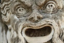 Ancient sculpture in Corfu, Greece