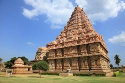 Ancient Shiva temple, Gangaikonda Cholapuram in Tamil Nadu, India. A UNESCO world heritage site