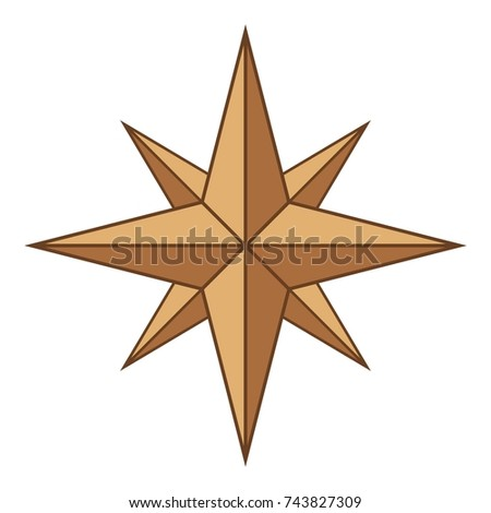Ancient sign of wind rose icon. Cartoon illustration of ancient sign of wind rose  icon for web design #743827309