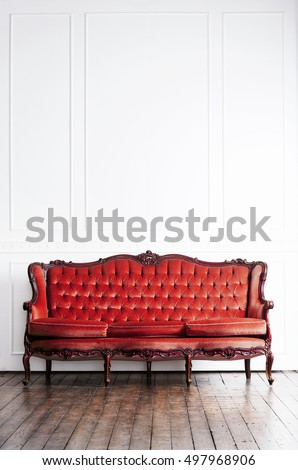 ancient sofa in a retro...