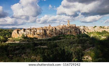 Ancient Sorano town in Tuscany. Italy