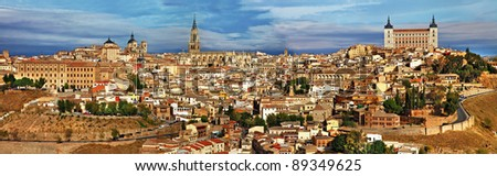 ancient Spain - Toledo city, panoramic view