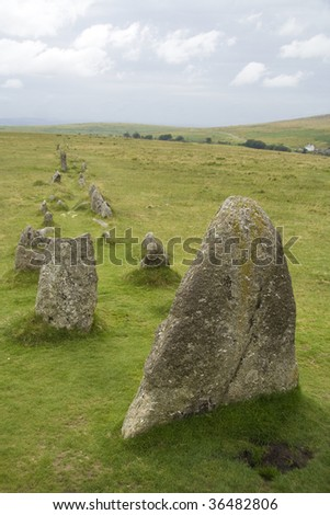 Ancient stone formation on Dartmoor