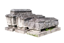 Ancient stone tombs in the cemetery land