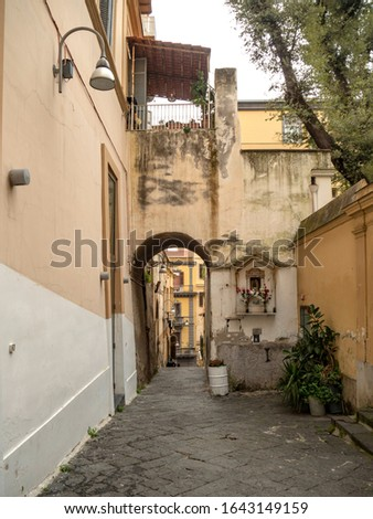 Ancient street in a district of Naples
