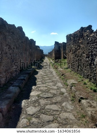 ancient street of a Neapolitan city