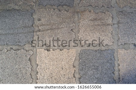 Ancient Street of Lava Bricks.  Advertising template for ad with endurance as a theme.