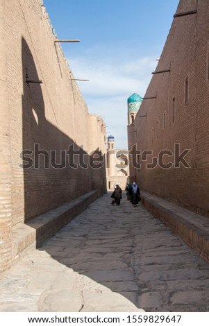 Ancient streets in the ancient eastern city