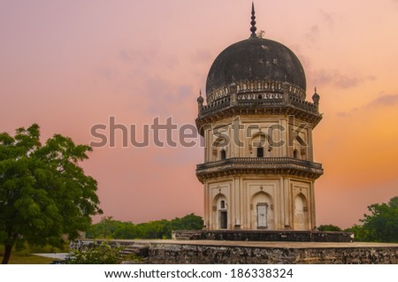 ancient structures built by the muslim kings of hyderabad, India