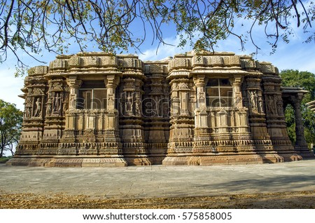 Ancient sun temple with amazing stone art at Gujarat