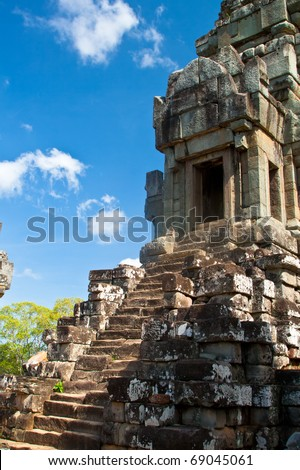 Ancient temple Wat Ta Keo at Angkor Wat complex in Siem Reap, Cambodia