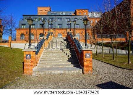 Ancient textile factory - Loft Aparts - details of architecture of the city of Lodz, Poland