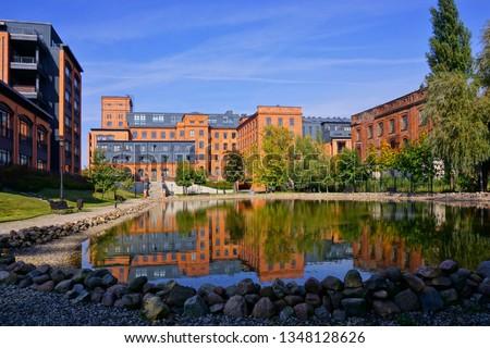 Ancient textile factory ,Loft Aparts - details of architecture of the city of Lodz, Poland