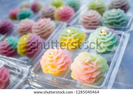 ancient Thai Dessert, Thai sweet dessert and ingredient in bowl, appetizer, Thai Dessert, Thai food