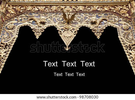 ancient thai style sculpture frame