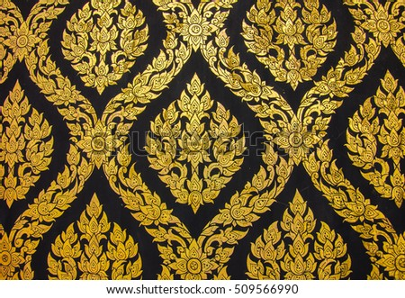 Abstract golden lai-Thai style art background pattern Images and
