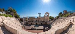 Ancient Theatre of Philippopolis (Roman Theatre) in Plovdiv, Bulgaria