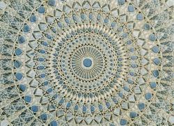 Ancient tile pattern on ceramic